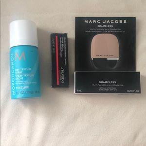 NIB travel size lipstick and texture spray
